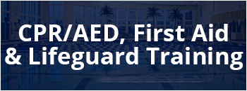 CPR/AED, First Aid and Lifeguarding classes