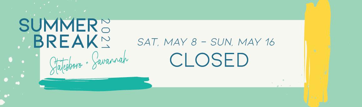 Summer Break Closed Graphic